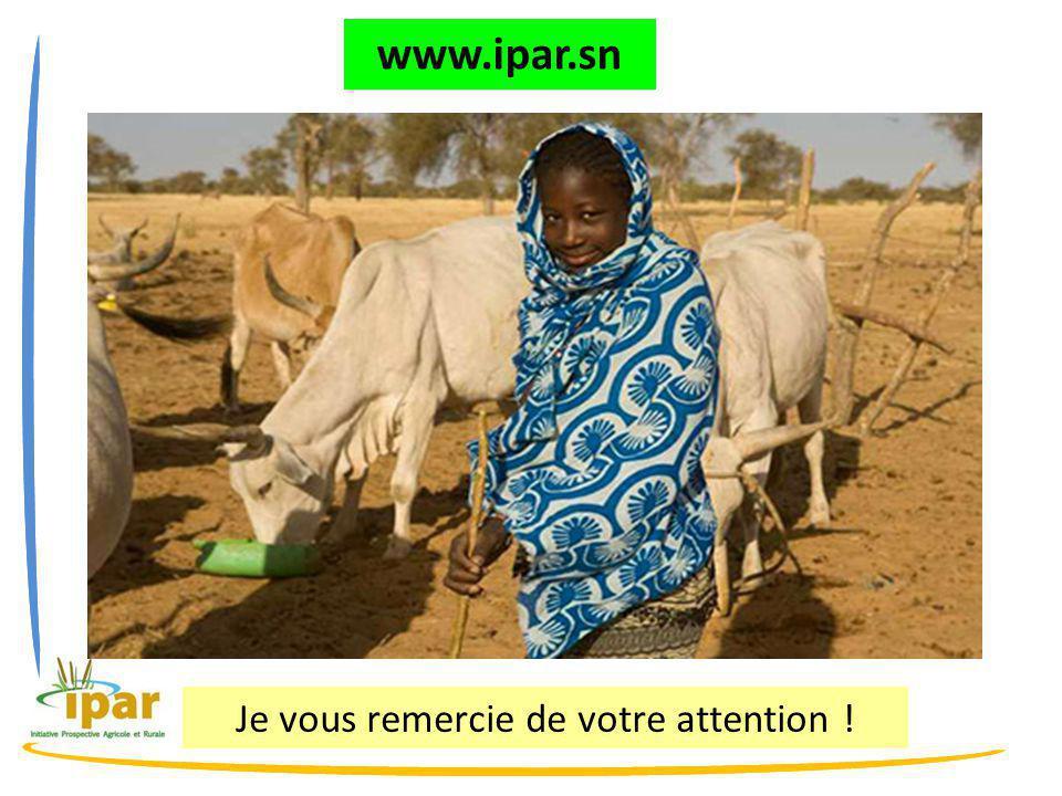 Je vous remercie de votre attention ! www.ipar.sn