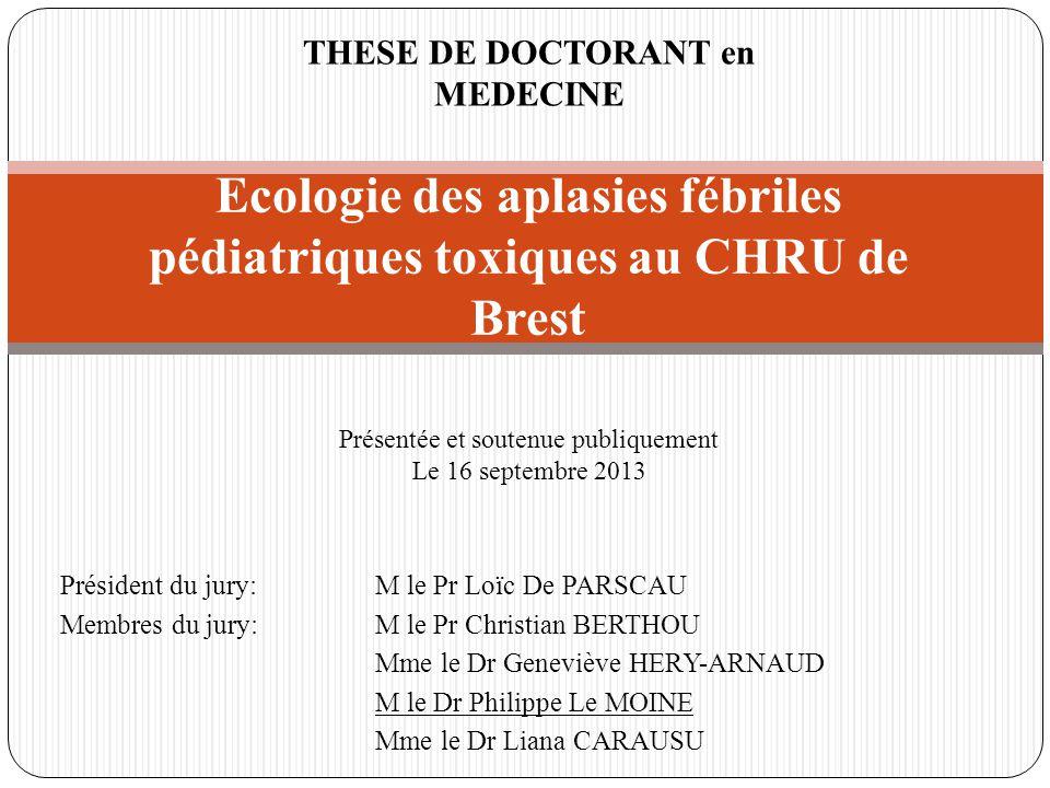 Président du jury:M le Pr Loïc De PARSCAU Membres du jury:M le Pr Christian BERTHOU Mme le Dr Geneviève HERY-ARNAUD M le Dr Philippe Le MOINE Mme le D