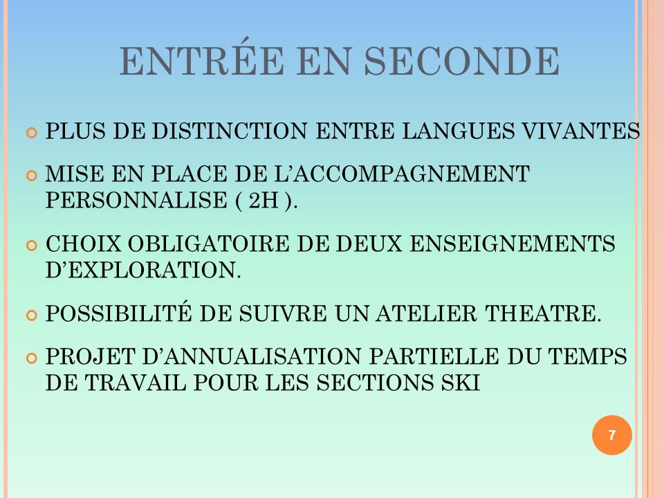 ENTR É E EN SECONDE PLUS DE DISTINCTION ENTRE LANGUES VIVANTES MISE EN PLACE DE L'ACCOMPAGNEMENT PERSONNALISE ( 2H ).
