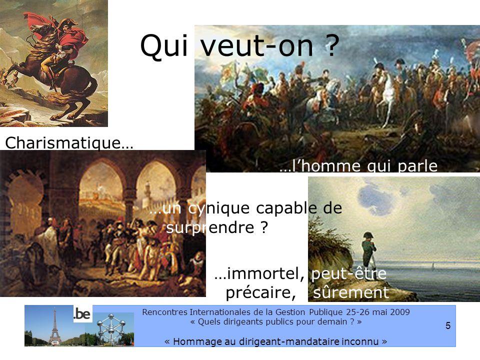 5 Rencontres Internationales de la Gestion Publique 25-26 mai 2009 « Quels dirigeants publics pour demain .