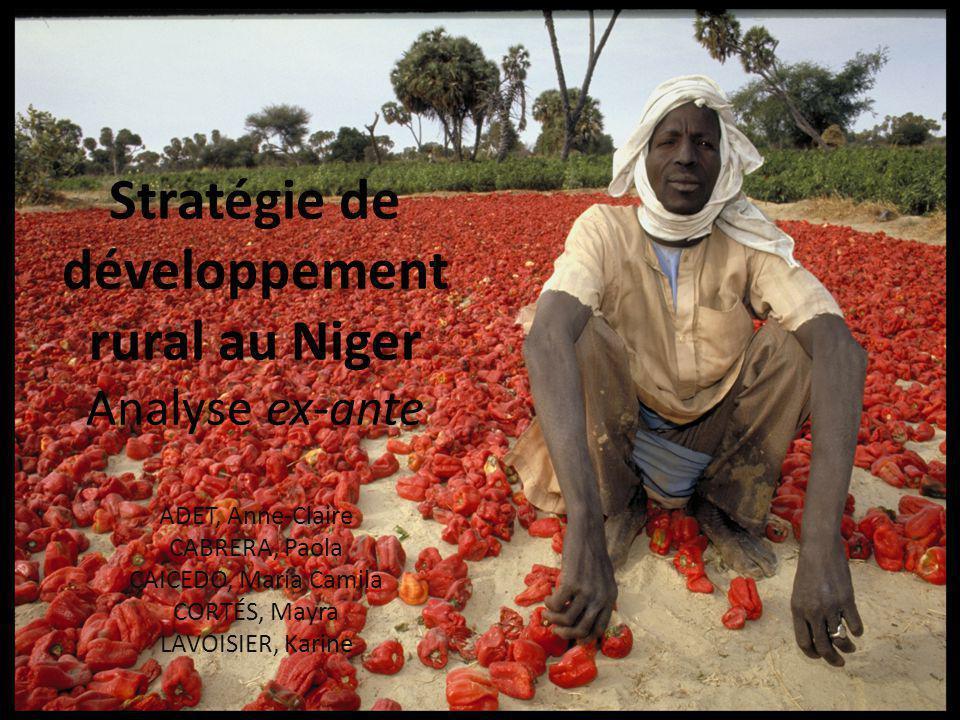 Stratégie de développement rural au Niger Analyse ex-ante ADET, Anne-Claire CABRERA, Paola CAICEDO, María Camila CORTÉS, Mayra LAVOISIER, Karine