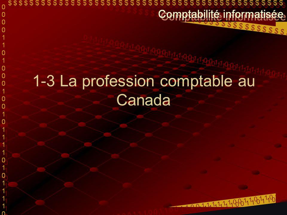 Les comptables agréés (CA) C'est le plus haut niveau des comptables En premier lieu, il effectue de la vérification pour les autres entreprises.