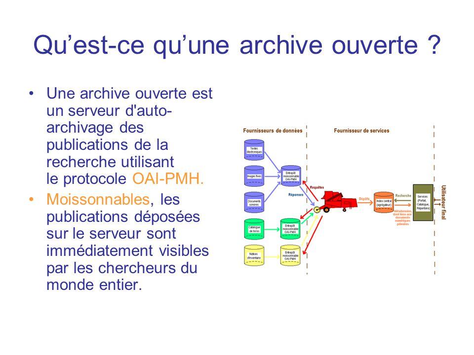 Qu'est-ce qu'une archive ouverte .