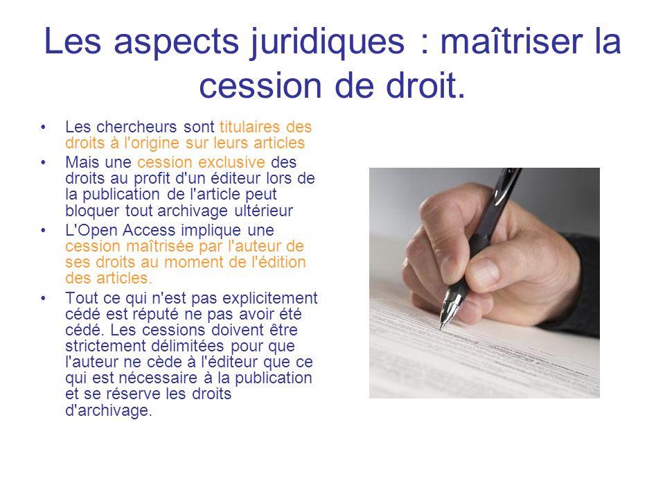 Les aspects juridiques : maîtriser la cession de droit.
