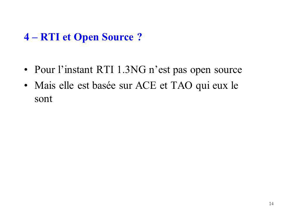 14 4 – RTI et Open Source .