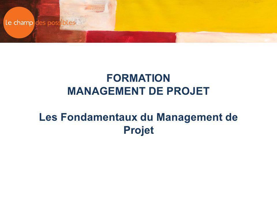 FORMATION MANAGEMENT DE PROJET Les Fondamentaux du Management de Projet