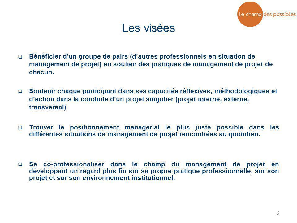 3  Bénéficier d'un groupe de pairs (d'autres professionnels en situation de management de projet) en soutien des pratiques de management de projet de