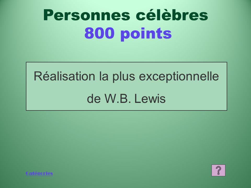 Catégories Qui est George Laurence Personnes célèbres 600 points