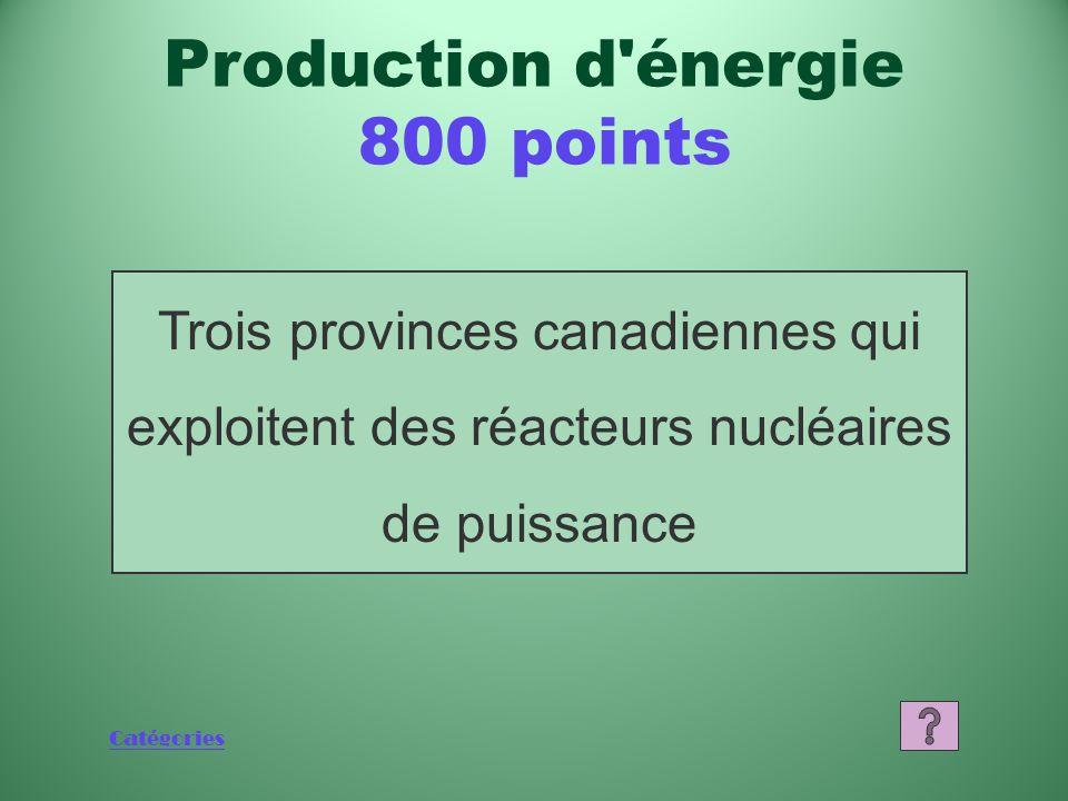 Catégories Qu'est-ce qu'un réacteur de recherche s'inspirant du modèle NRX de Chalk River.