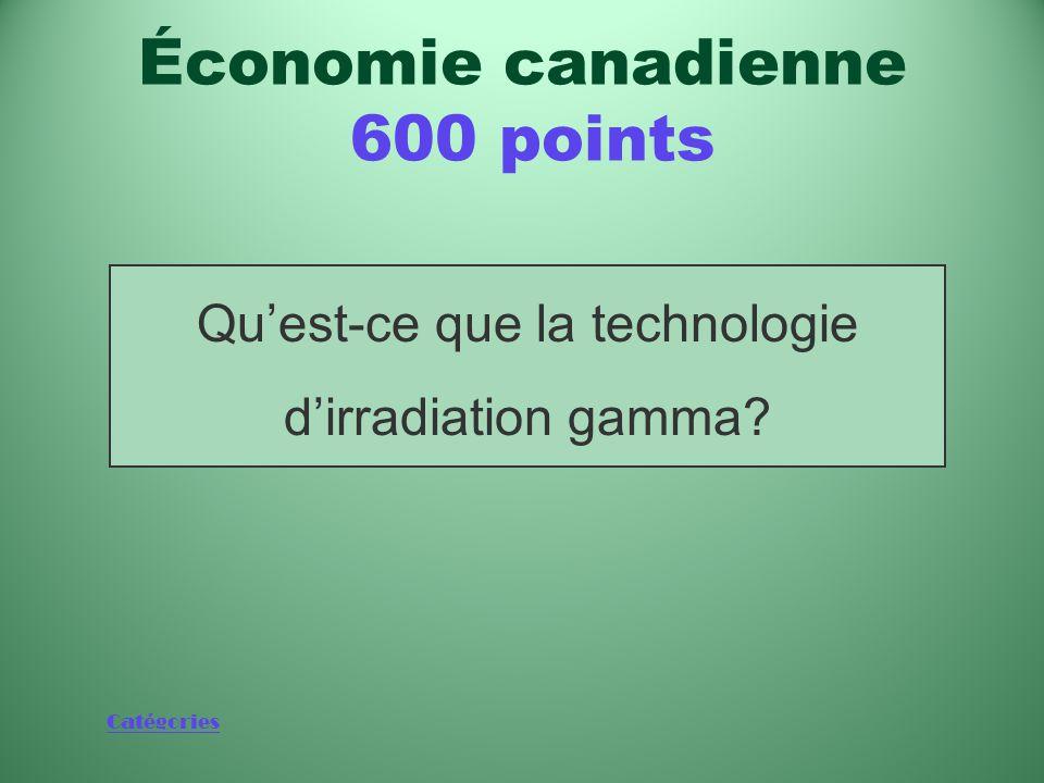 Catégories Technologie, dont le Canada est un chef de file, utilisée pour éliminer les pathogènes d'origine alimentaire comme E.