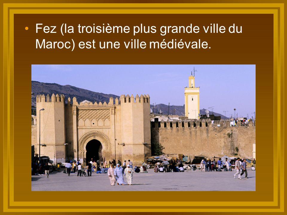 Fez (la troisième plus grande ville du Maroc) est une ville médiévale.