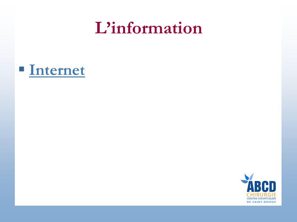 L'information  Internet Internet