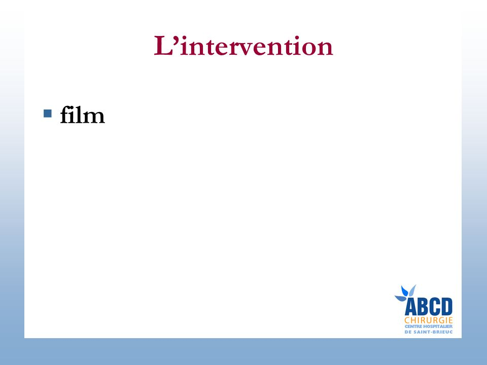 L'intervention  film