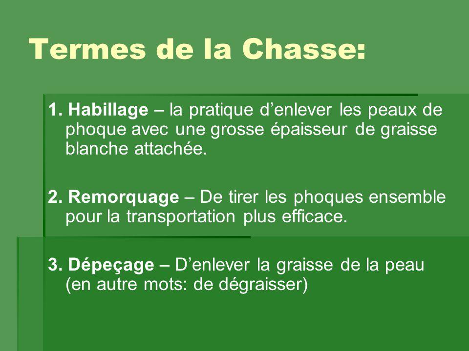 Termes de la Chasse: 1.