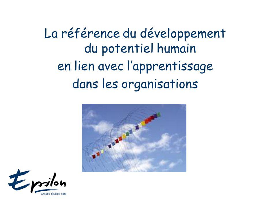 La référence du développement du potentiel humain en lien avec l'apprentissage dans les organisations