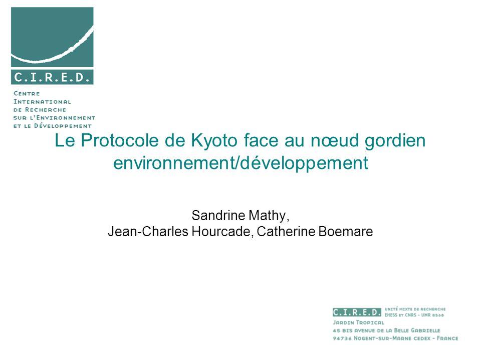 Le Protocole de Kyoto face au nœud gordien environnement/développement Sandrine Mathy, Jean-Charles Hourcade, Catherine Boemare