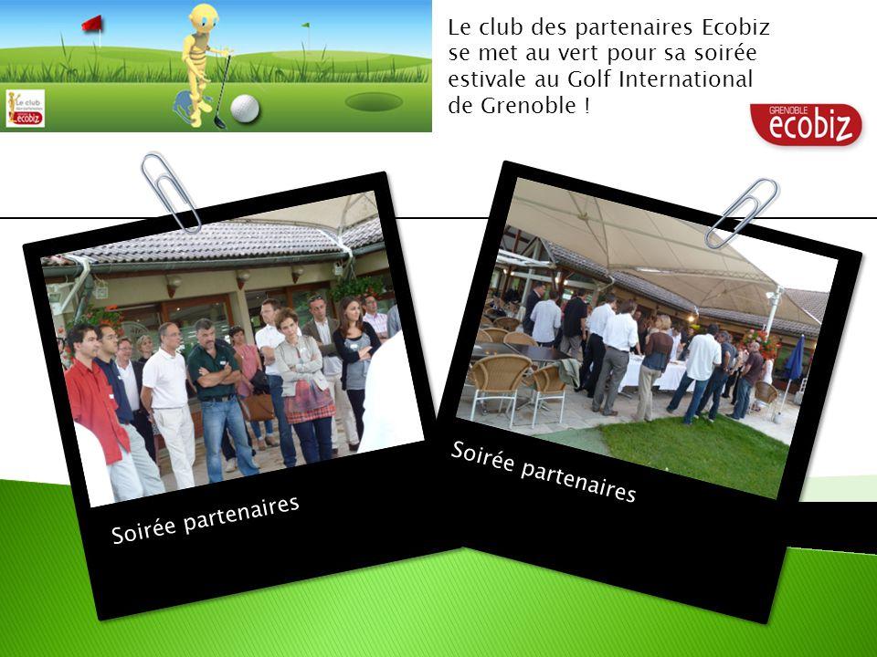 Soirée partenaires Le club des partenaires Ecobiz se met au vert pour sa soirée estivale au Golf International de Grenoble !