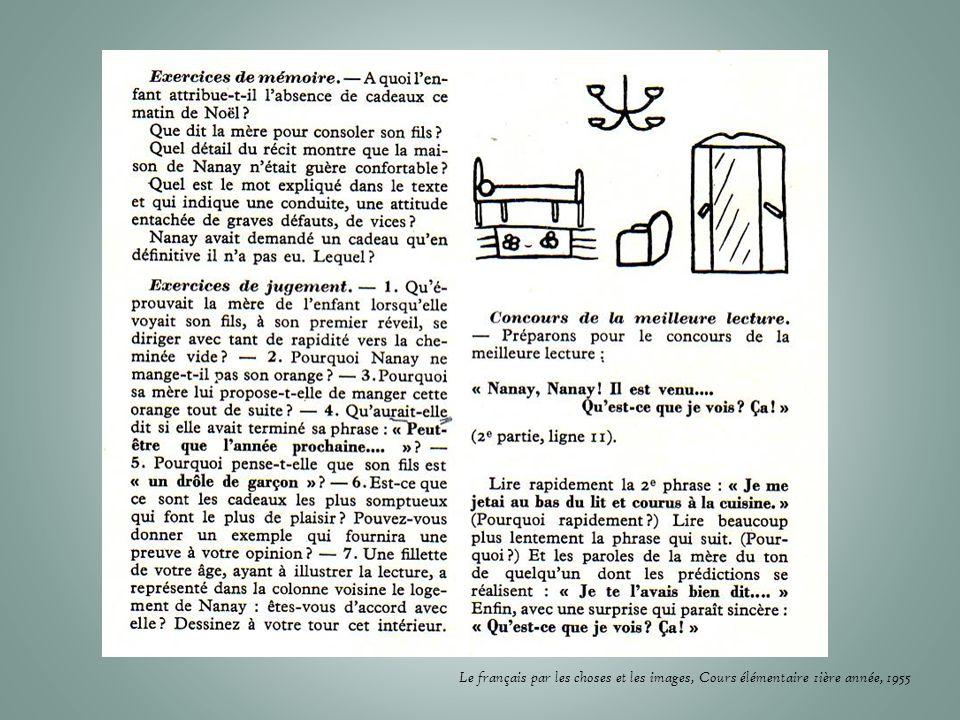 Le français par les choses et les images, Cours élémentaire 1ière année, 1955