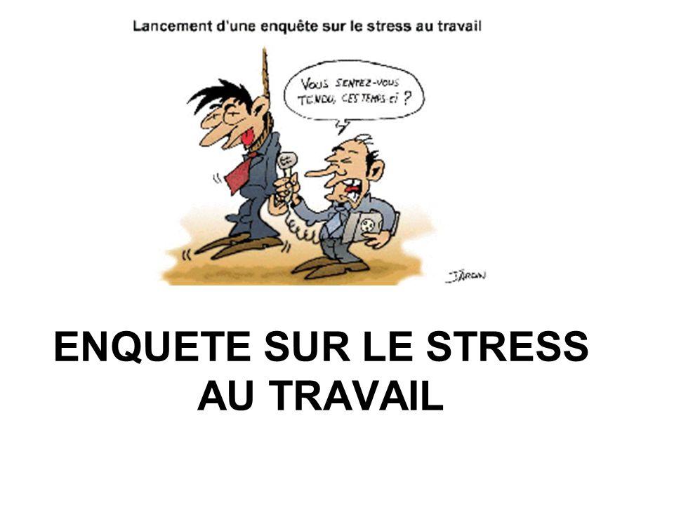 ENQUETE SUR LE STRESS AU TRAVAIL