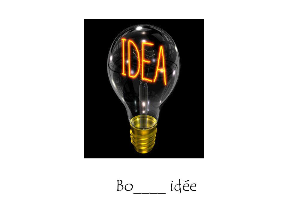Bo____ idée