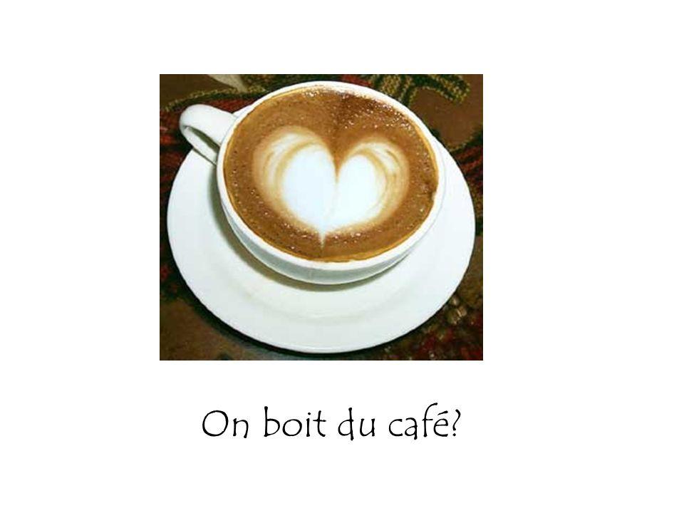 On boit du café