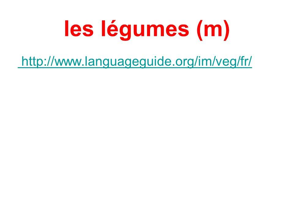 les légumes (m) http://www.languageguide.org/im/veg/fr/