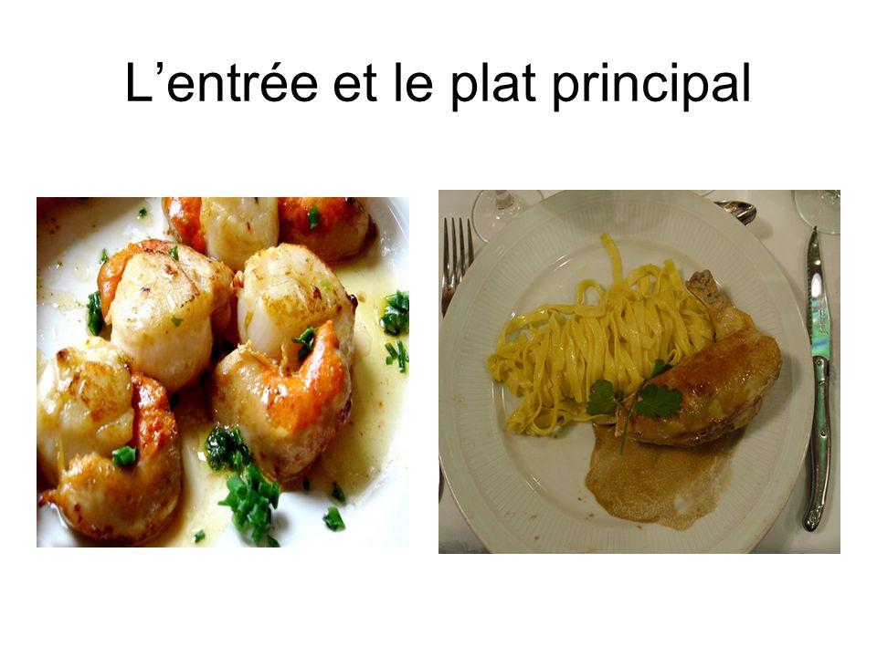 L'entrée et le plat principal