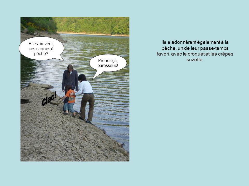 Ils s'adonnèrent également à la pêche, un de leur passe-temps favori, avec le croquet et les crêpes suzette.