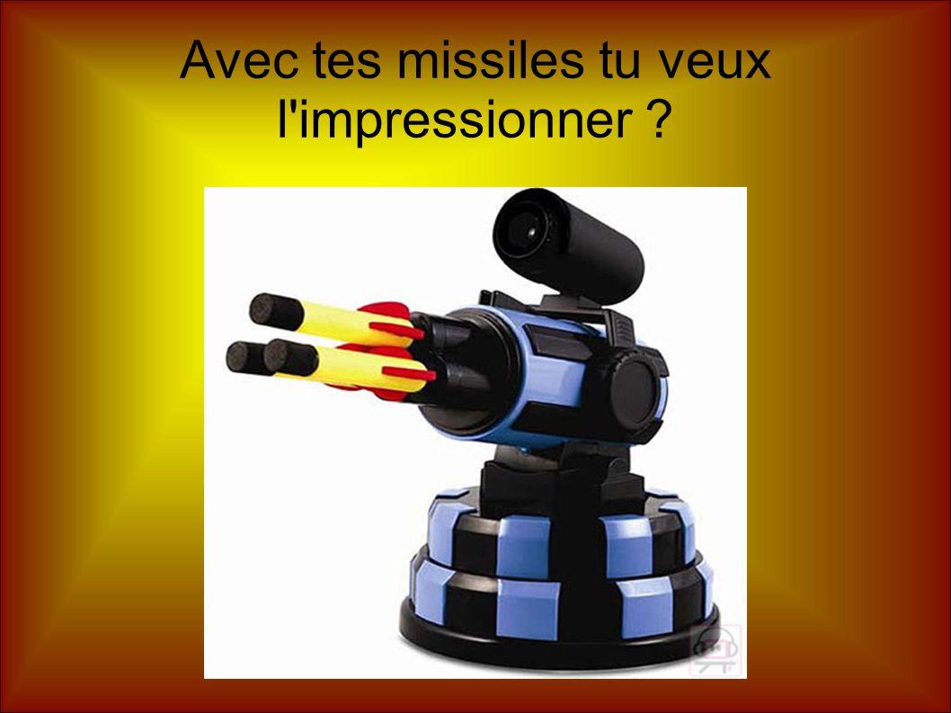 Avec tes missiles tu veux l'impressionner ?