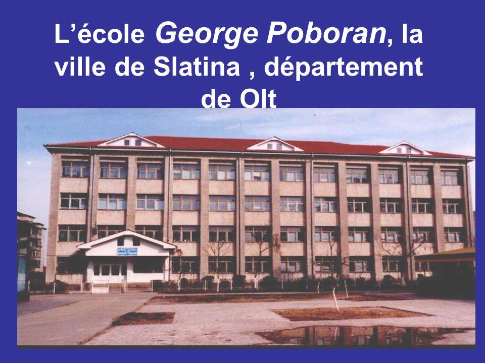 L'école George Poboran, la ville de Slatina, département de Olt