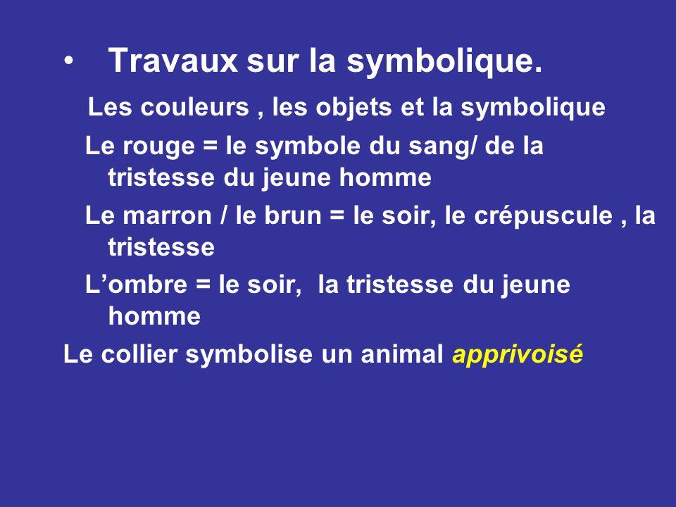 Travaux sur la symbolique.
