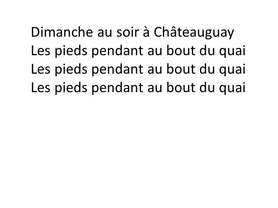 Dimanche au soir à Châteauguay Les pieds pendant au bout du quai Les pieds pendant au bout du quai Les pieds pendant au bout du quai