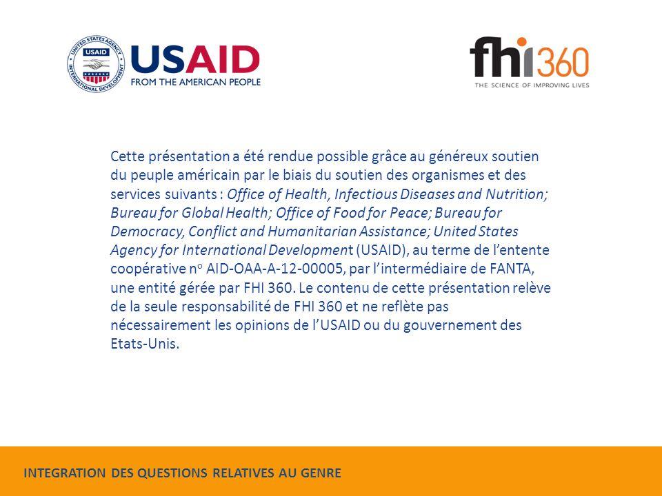 Cette présentation a été rendue possible grâce au généreux soutien du peuple américain par le biais du soutien des organismes et des services suivants