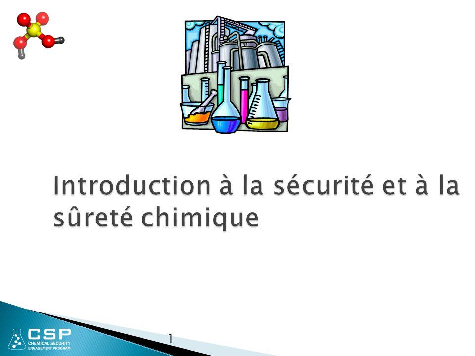 1 Introduction à la sécurité et à la sûreté chimique