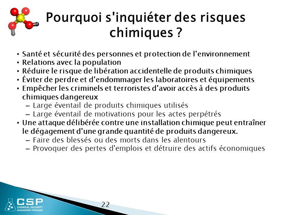 22 Pourquoi s inquiéter des risques chimiques .