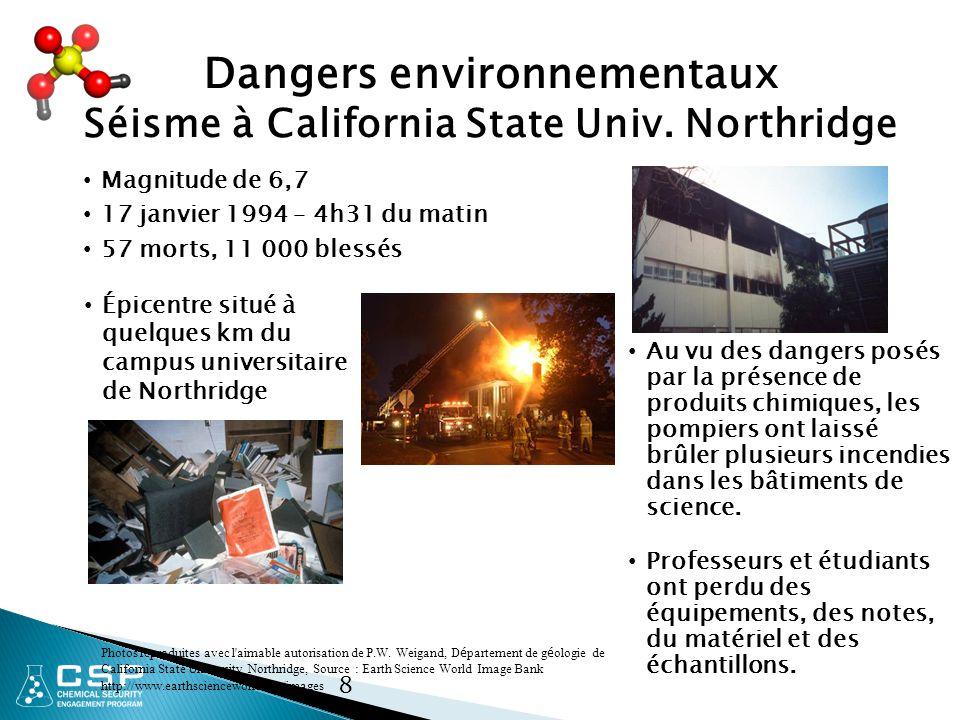 8 Dangers environnementaux Séisme à California State Univ.