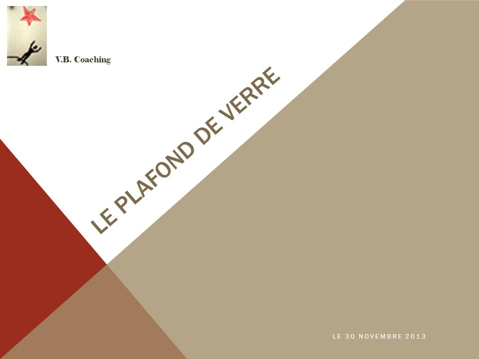 LE PLAFOND DE VERRE V.B. Coaching LE 30 NOVEMBRE 2013