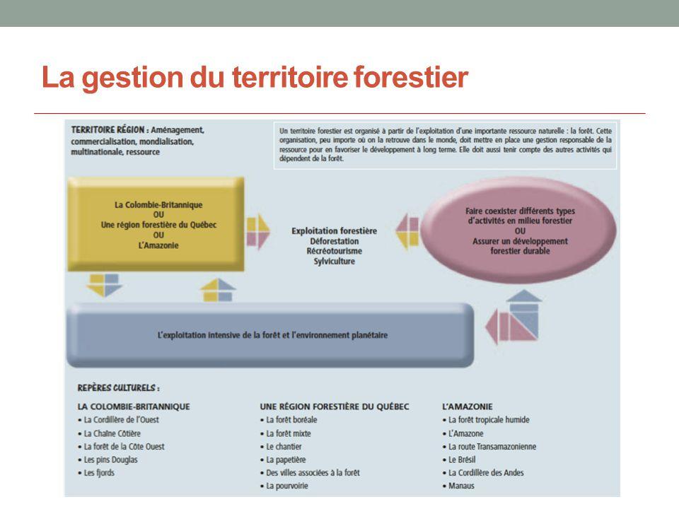 La gestion du territoire forestier