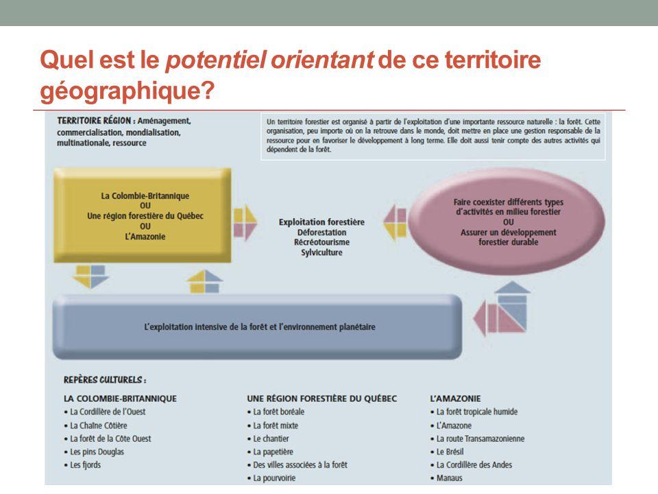 Les quatre piliers de l approche orientante Source: BROCHU, Dany et Brigitte GAGNON.
