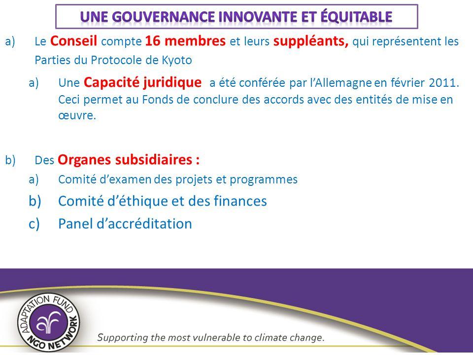 Le Comité d'Examen des Projets et Programmes (CEPP) 1.Le CEPP assiste le CFA en examinant les projets et programmes à la lumière des politiques opérationnelles et lignes directrices permettant aux Parties d'accéder aux ressources du Fonds d'Adaptation.