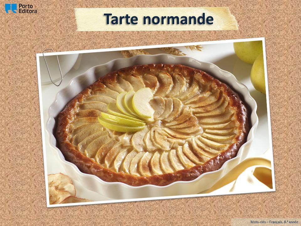 Tarte normande Mots-clés – Français, 8. e année