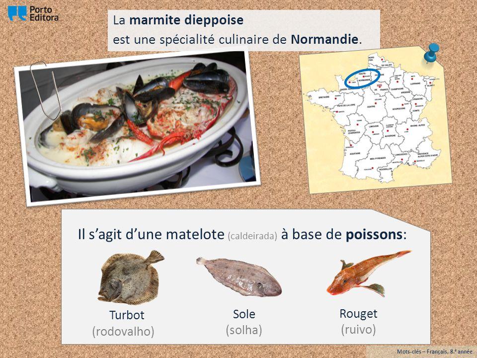 poivre et des aromates: cuits avec des légumes: et de crustacés: coquilles Saint-Jacques ( vieiras ) moules oignons céleri ( aipo ) poireau sel Mots-clés – Français, 8.