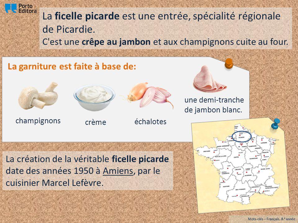 Quiche lorraine Mots-clés – Français, 8. e année