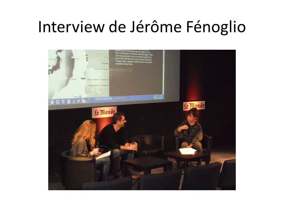 Interview de Jérôme Fénoglio