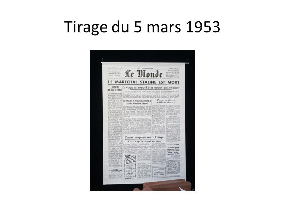 Tirage du 5 mars 1953