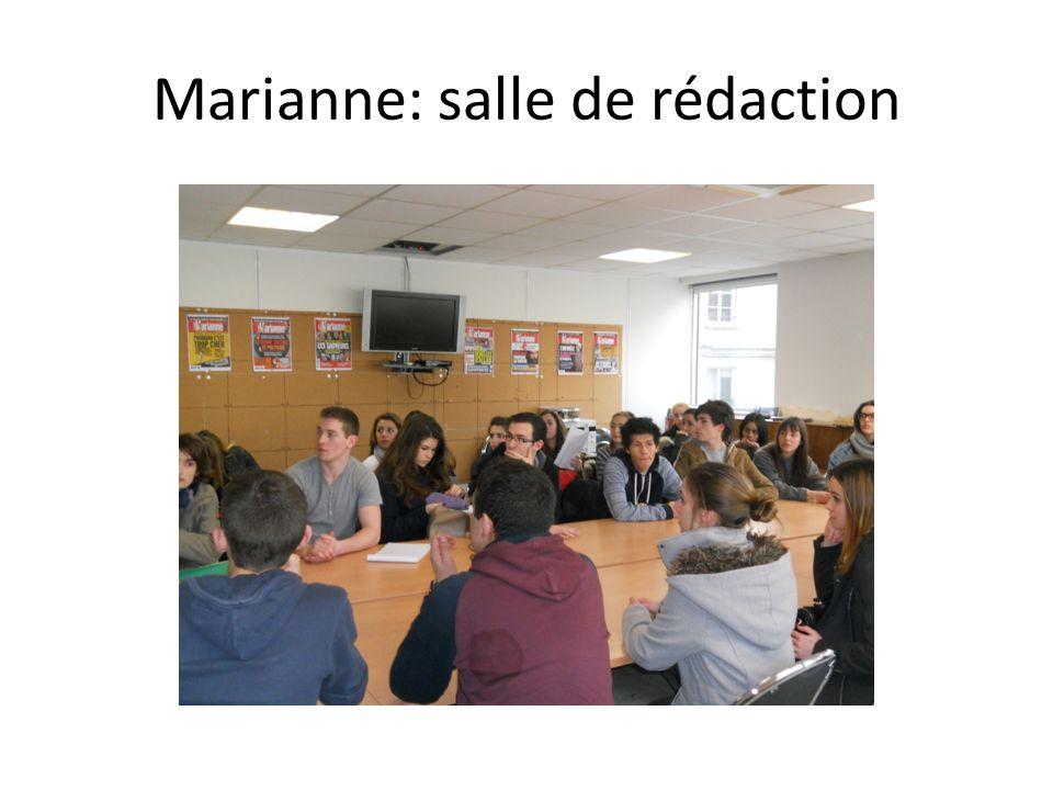 Marianne: salle de rédaction