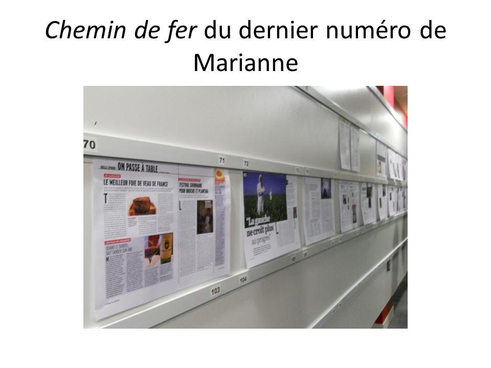 Chemin de fer du dernier numéro de Marianne