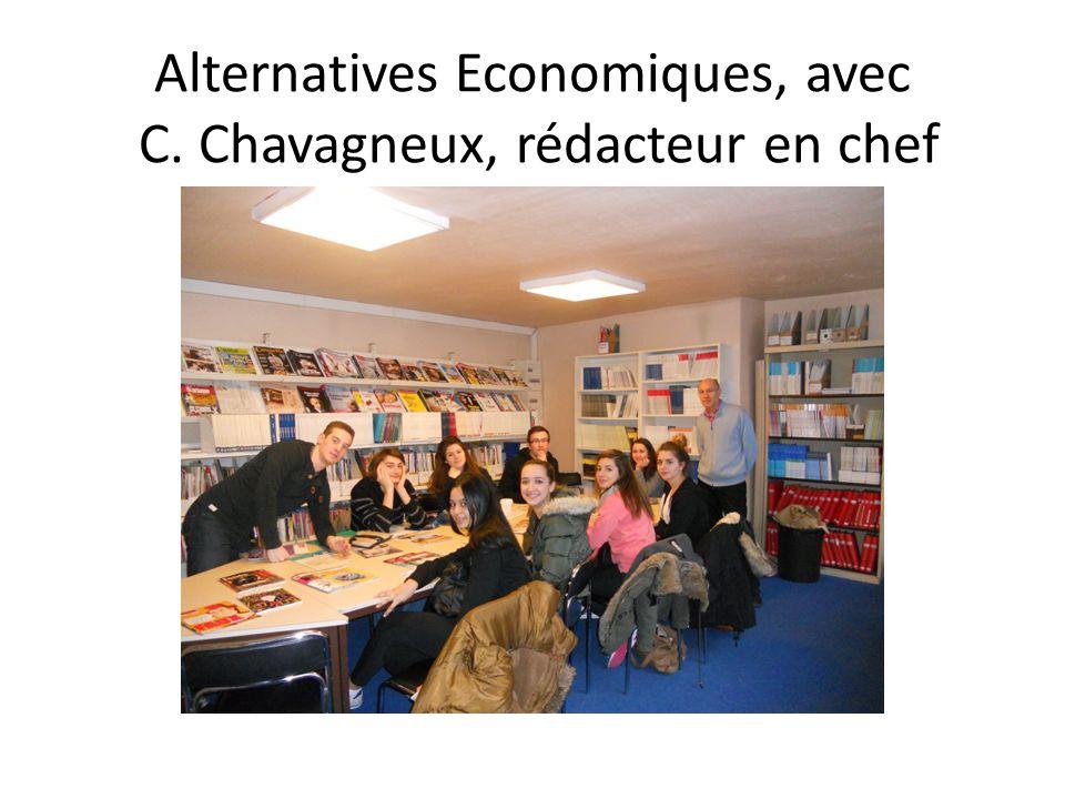 Alternatives Economiques, avec C. Chavagneux, rédacteur en chef