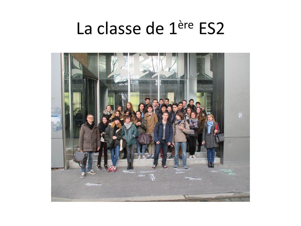 La classe de 1 ère ES2