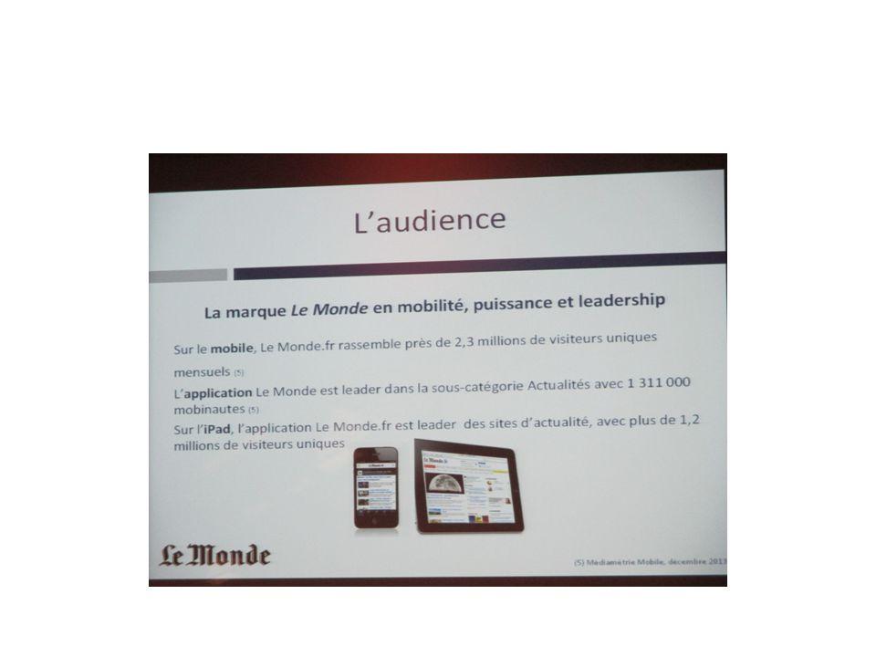 Présentation de Médiapart par Mme Laloum-Davidas, directrice de la communication